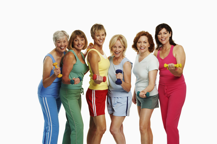 picture of fit over 50 ladies by best online workout programs